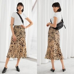 & Other Stories daisy floral print midi skirt